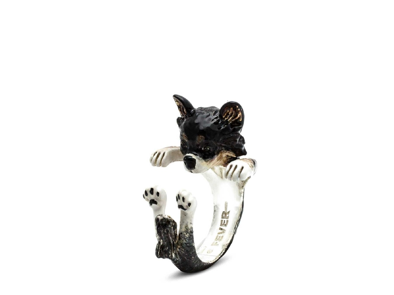 enamelled-hug-ring-chihuahua-long-hair-red