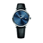 Raymond Weil TOCCATA 39 mm Steel on leather strap blue dial & Date watch