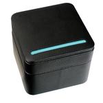 Black LTHR WATCH+CUFF BOX