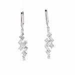 Art-Deco Diamond Drop Earrings