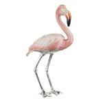 Silver Flamingo Ornament