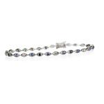 Gradient Sapphire & Diamond Bracelet