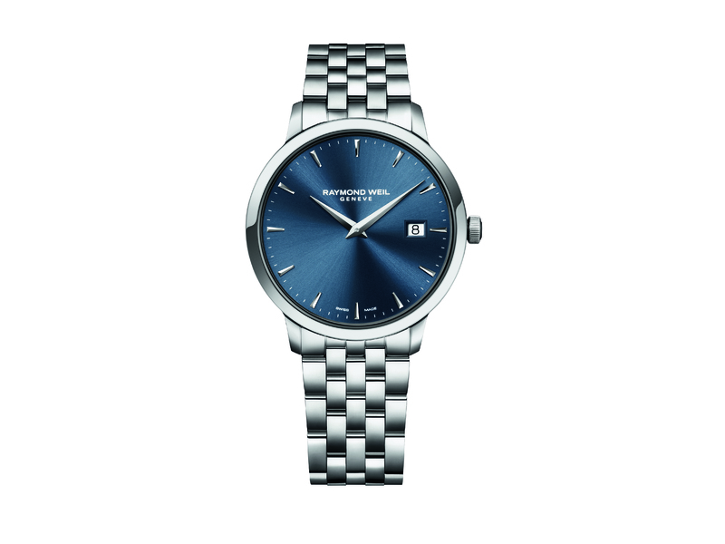 Raymond Weil TOCCATA 39 mm Steel on steel blue dial 5488-ST-50001