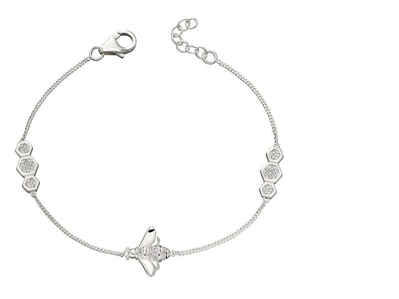 z1297_Cubic_Zirconia_Detailed_Bee_Bracelet_