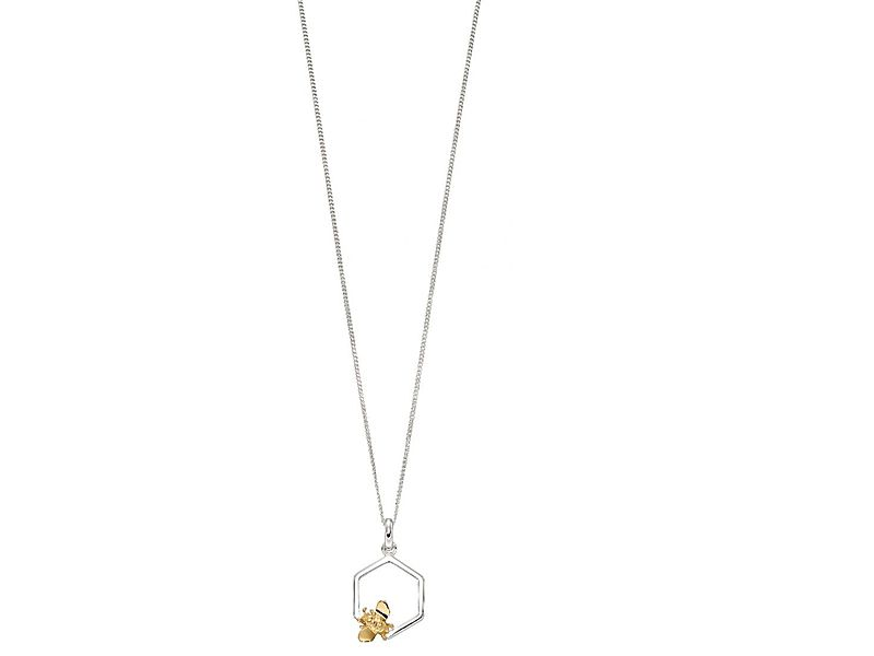 z1302_Single_Honeycomb___Gold_Plated_Bee_Necklace_