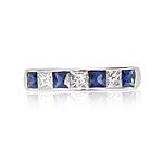8123076_18ct_White_Gold_4_Sapphire_3_Diamond_Half_Eternity_Ring_