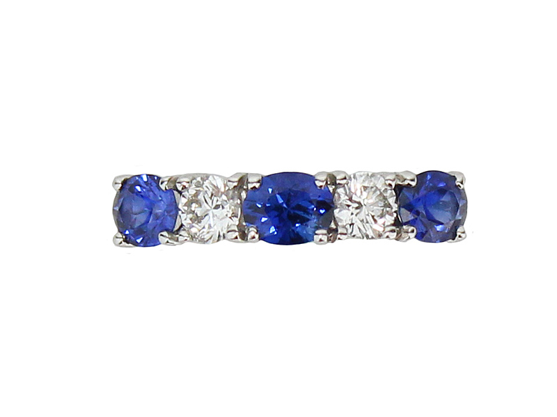 8123074_18ct_White_Gold_Half_Eternity_Ring_Set_with_3_Sapphires_2_Diamonds