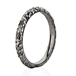 18ct White Gold Hand Cut Wedding Ring